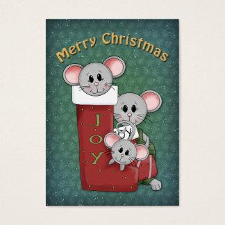 Navidad que almacena con los ratones tarjetas de visita grandes