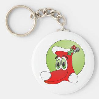 Navidad que almacena el dibujo animado llavero redondo tipo pin