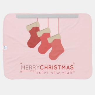 Navidad que almacena el ejemplo manta de bebé