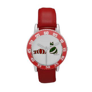 Navidad que almacena el reloj rojo del bisel del n