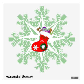 Navidad que almacena la etiqueta del copo de nieve vinilo
