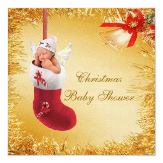 Navidad que almacena la fiesta de bienvenida al invitación 13,3 cm x 13,3cm