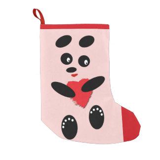 Navidad que almacena la panda en el amor pequeño calcetín navideño pequeño