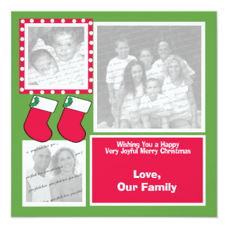 """Navidad que almacena la tarjeta plana de saludo de invitación 5.25"""" x 5.25"""""""