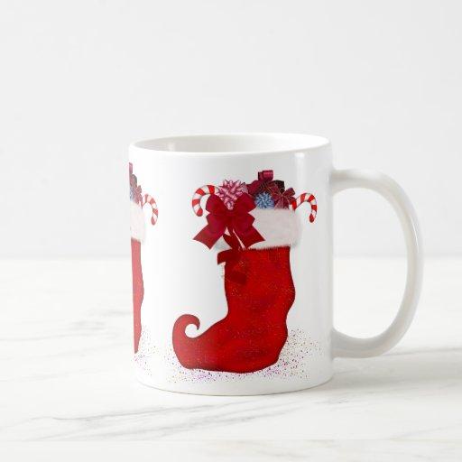 Navidad que almacena la taza del regalo