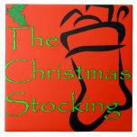 Navidad que almacena la teja/el trivet del