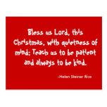 Navidad que bendice la postal
