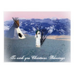 Navidad que bendice tarjeta postal