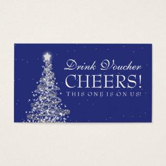 Navidad que casa a la marina de guerra de la plata tarjeta de negocios