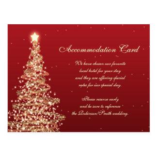 Navidad que casa el oro del rojo del alojamiento tarjetas postales