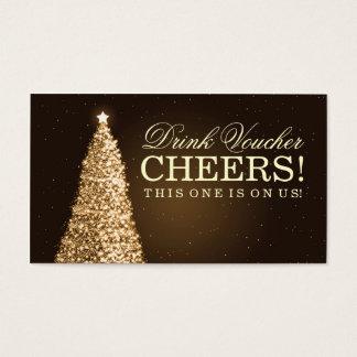 Navidad que casa el oro del vale de la bebida