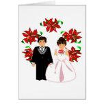 Navidad que casa los pares I con la guirnalda Tarjeta Pequeña