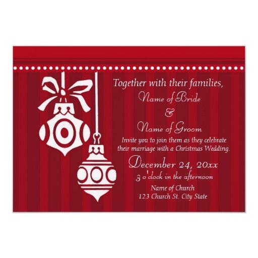 Navidad que casa tarjetas de la invitación