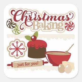 Navidad que cuece a los pegatinas de la etiqueta