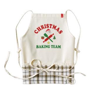 Navidad que cuece al equipo delantal zazzle HEART
