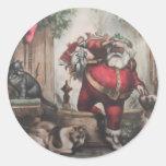 Navidad que envía a los pegatinas