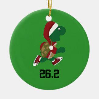 Navidad que funciona con la tortuga 26,2 adorno navideño redondo de cerámica