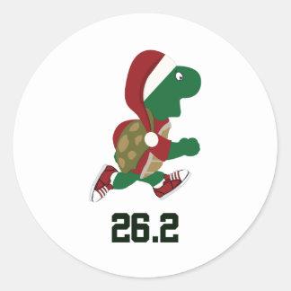 Navidad que funciona con la tortuga 26,2 pegatinas redondas