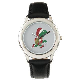 Navidad que funciona con la tortuga relojes