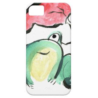 Navidad que guiña el Froggy iPhone 5 Funda