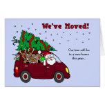 Navidad que mueve la tarjeta de la invitación