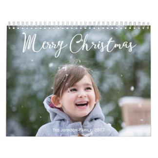 Navidad que nieva personalizado del calendario