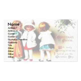 Navidad que saluda colocación de tres bebés tarjeta personal