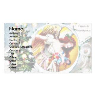 Navidad que saluda con el árbol de navidad adornad tarjetas de visita