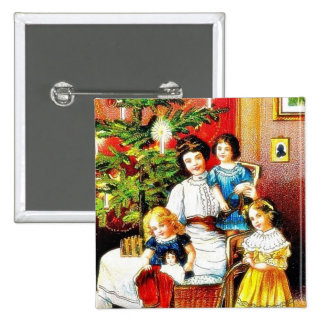 Navidad que saluda con la madre alrededor de su ch pins