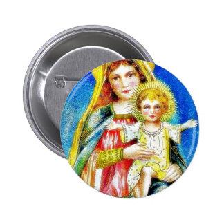 Navidad que saluda con la madre Maria que detiene Pins