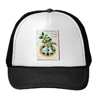 Navidad que saluda con las campanas gorra