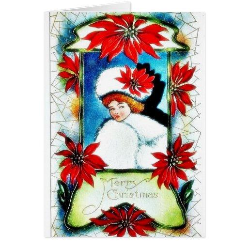 Navidad que saluda con las campanas tarjeta de felicitación