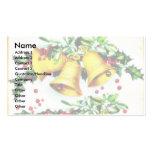 Navidad que saluda con las campanas y las hojas sa plantillas de tarjetas de visita