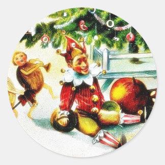 Navidad que saluda con los jockers que hacen algún etiquetas redondas