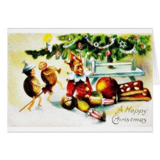 Navidad que saluda con los jockers que hacen algún tarjeta