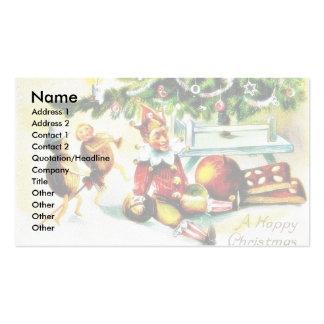 Navidad que saluda con los jockers que hacen algún tarjetas de visita
