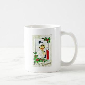 Navidad que saluda con un marco de la foto del chi tazas de café