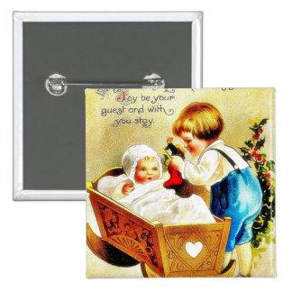 Navidad que saluda con un niño en un caddle y un t pin