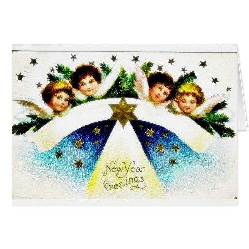 Navidad que saluda con un par en el carro del caba felicitaciones
