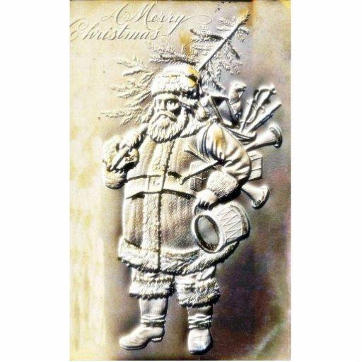 Navidad que saluda con una copia grabada en reliev esculturas fotograficas