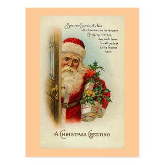 """""""Navidad que saluda"""" el vintage Tarjetas Postales"""