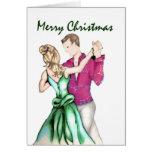 Navidad que saluda felicitación