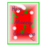Navidad que saluda la postal