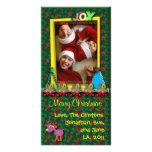 Navidad que saluda la tarjeta de la foto: Alegría Tarjetas Fotograficas Personalizadas