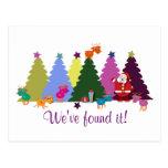 Navidad que saluda las postales: Santa y sus cierv