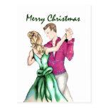 Navidad que saluda postal