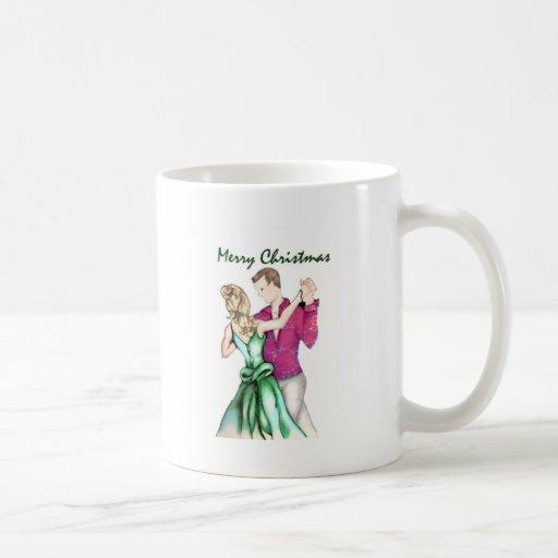 Navidad que saluda tazas de café