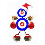 Navidad que se encrespa tarjeta postal