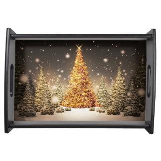 Navidad que sirve la bandeja