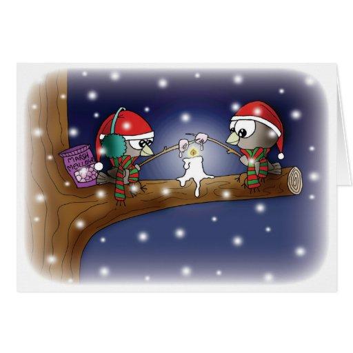 Navidad que tuesta las melcochas tarjeta de felicitación